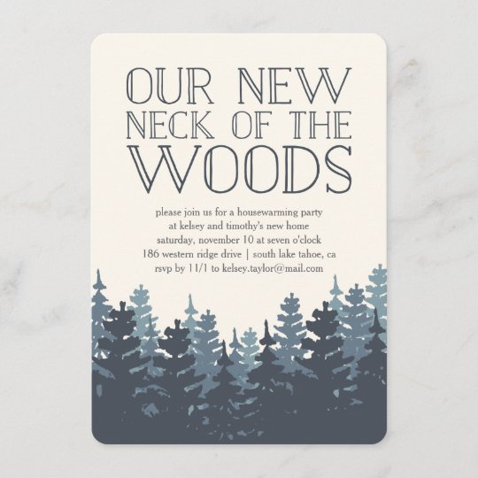 winter forest housewarming party invitation. Black Bedroom Furniture Sets. Home Design Ideas