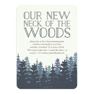 Winter Forest Housewarming Party Invitation