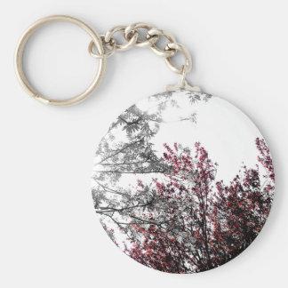 Winter Forest Basic Round Button Keychain
