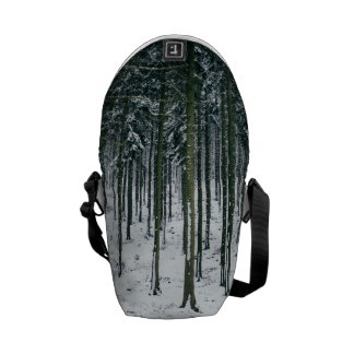 Winter Forest Landscape Snow Covered Trees Courier Bag