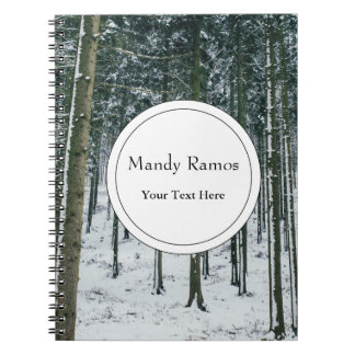Winter Forest Landscape Snow Covered Trees Notebook