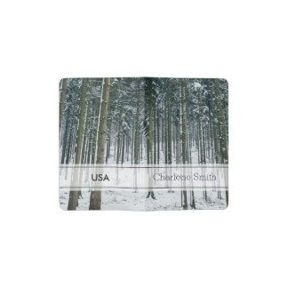 Winter Forest Landscape Snow Covered Trees Pocket Moleskine Notebook