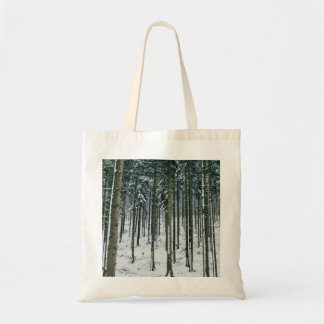 Winter Forest Landscape Snow Covered Trees Tote Bag