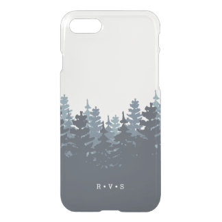 Winter Forest Monogram iPhone 8/7 Case
