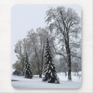 Winter Forest Mousepad Snow Landscape Gifts