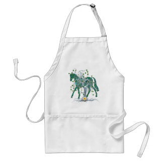 Winter Forest New Year Horse Adult Apron