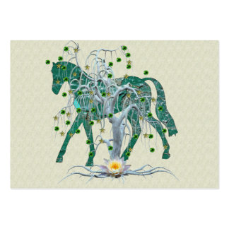 Winter Forest New Year Horse Large Business Cards (Pack Of 100)