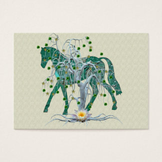 Winter Forest New Year Horse Business Card