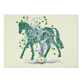 Winter Forest New Year Horse Card