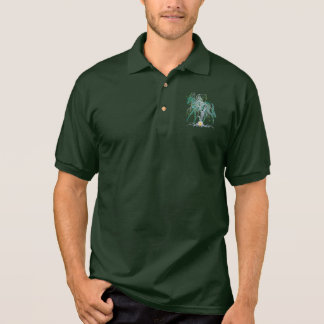 Winter Forest New Year Horse Polo Shirt