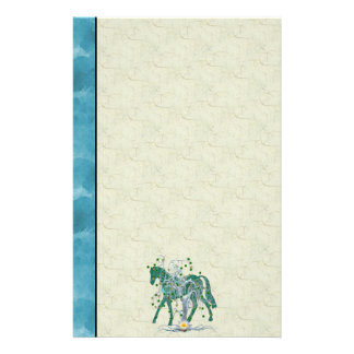 Winter Forest New Year Horse Stationery Paper