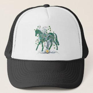 Winter Forest New Year Horse Trucker Hat