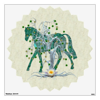 Winter Forest New Year Horse Wall Sticker