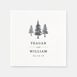 Winter Forest | Personalized Wedding Napkin