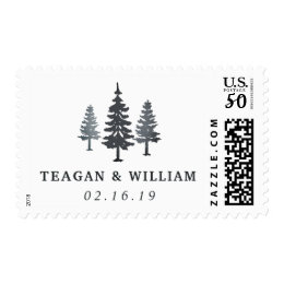 Winter Forest | Personalized Wedding Postage