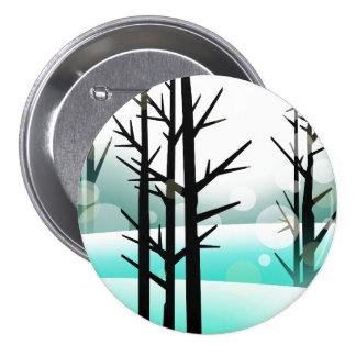 Winter Forest Pinback Button