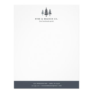 Winter Forest | Pine Tree Logo Letterhead
