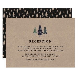 Winter Forest Reception Card