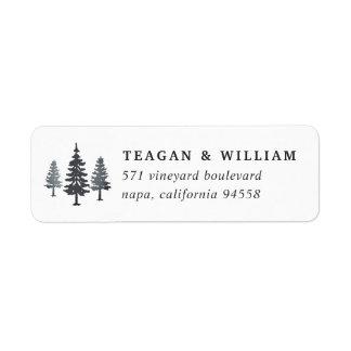 Winter Forest Return Address Label