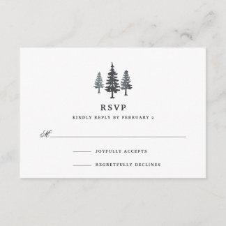 Winter Forest RSVP Card