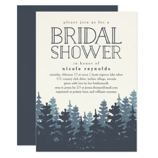 Winter Forest Rustic Bridal Shower Invitation