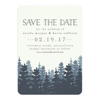 Winter Forest Save the Date Card