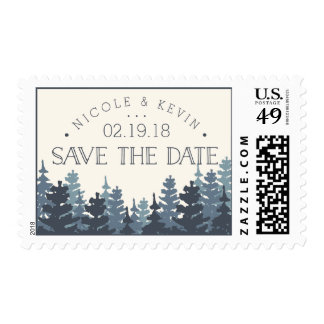 Winter Forest Save the Date Postage