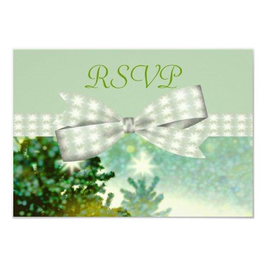 Winter Forest Sparkle Wedding Card