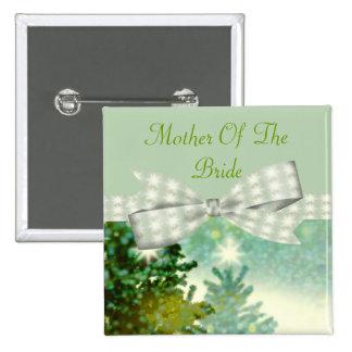 Winter Forest Sparkle Wedding Pinback Button