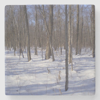 Winter Forest Stone Coaster