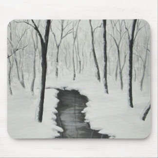 Winter Forest Stream Mousepad