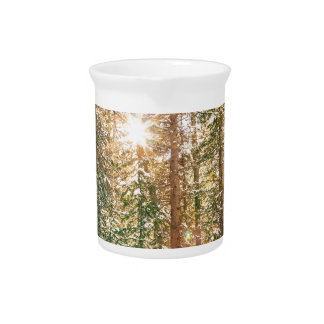 Winter Forest Sunshine Beverage Pitcher