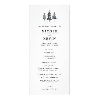 Winter Forest Wedding Ceremony Program