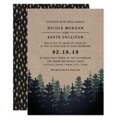 Winter Forest Wedding Invitation at Zazzle