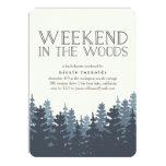 Winter Forest Weekend Getaway Invitation
