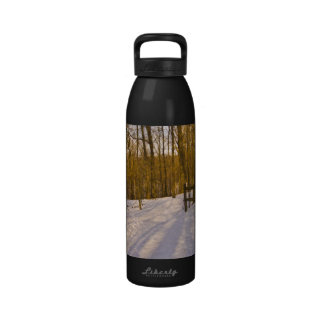 Winter Forest with Fence Liberty Bottle Water Bottle