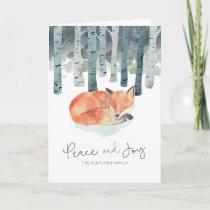 Winter Fox Holiday Card
