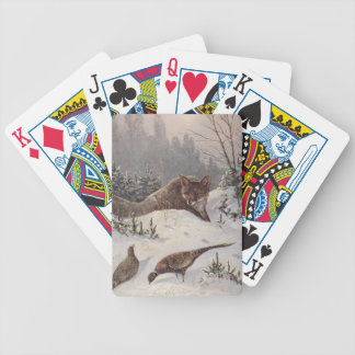 Winter Fox Hunts Pheasants Camp Hunt Playing Cards