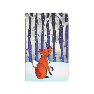 winter fox pocket journal notebook