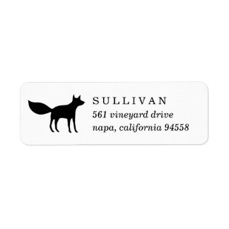 Winter Fox Return Address Label