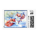 Winter Foxes Postage