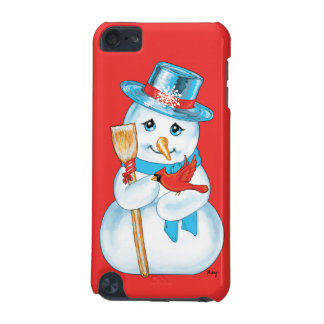 Winter Friends Adorable Snowman and Cardinal iPod Touch (5th Generation) Case