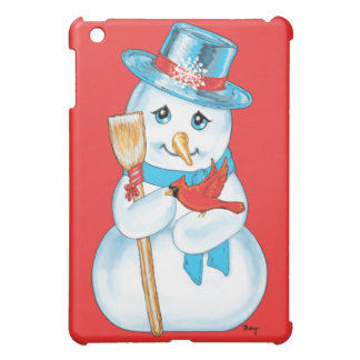 Winter Friends Adorable Snowman and Cardinal Cover For The iPad Mini