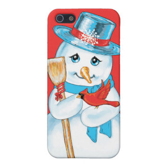 Winter Friends Adorable Snowman and Cardinal Case For iPhone 5
