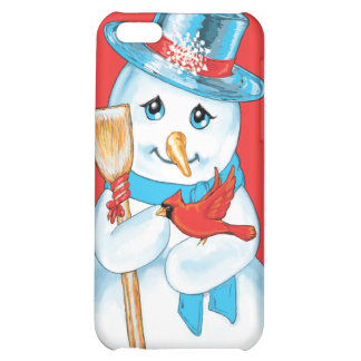 Winter Friends Adorable Snowman and Cardinal iPhone 5C Case