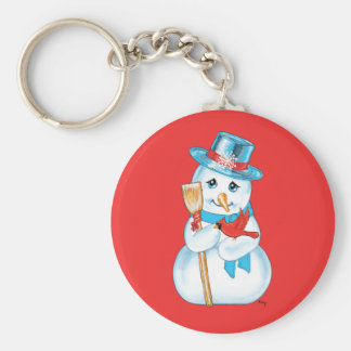 Winter Friends Adorable Snowman and Cardinal Key Chain