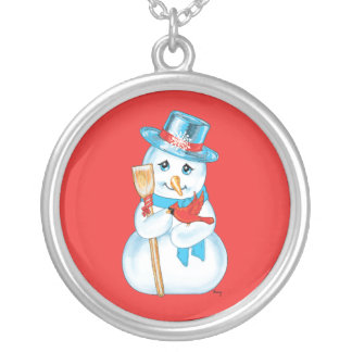 Winter Friends Adorable Snowman and Cardinal Custom Jewelry