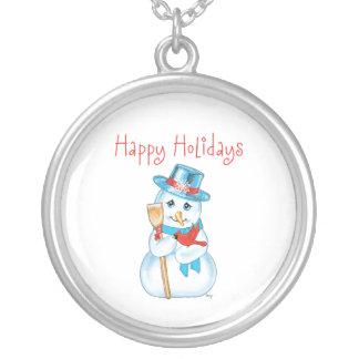 Winter Friends Adorable Snowman and Cardinal Pendant