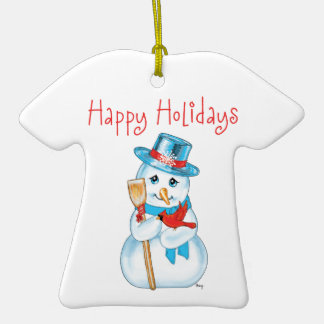 Winter Friends Adorable Snowman and Cardinal Ornaments