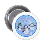 Winter Friends Snowmen 2 Inch Round Button